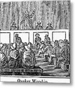 Quaker Worship, 1842 Metal Print