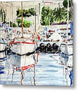 Quattro Barche Al Pennello Di Bonaria Metal Print