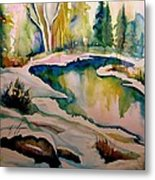 Quebec Winter Landscape Metal Print