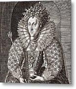 Queen Elizabeth I, English Monarch Metal Print