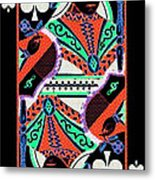 Queen Of Spades Metal Print by Wingsdomain Art and Photography