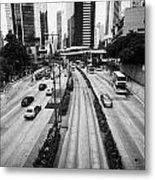 Queensway And Queens Road East In The Admiralty District Hong Kong Island Hksar China Metal Print