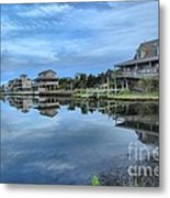 Quiet On The Sound Metal Print