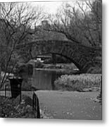 Quiet Time In Nyc Metal Print