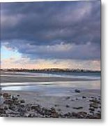 Quiet Winter Day At York Beach Metal Print