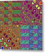 Quilted Fractals Metal Print