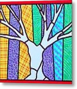 Quilted Winter Tree Metal Print