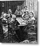 Quilting Party, 1864 Metal Print