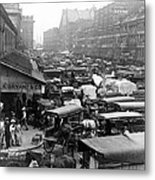 Quincy Market From Faneuil Hall - Boston - C 1906 Metal Print