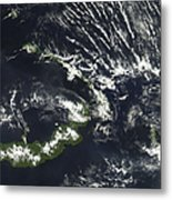 Rabaul Volcano On The Island Of Papua Metal Print by Stocktrek Images