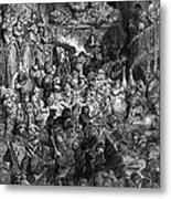 Rabelais: Gargantua And Pantagruel.  Illustration Of The Life Of Gargantua And Of Pantagruel By Fran�ois Rabelais. Wood Engraving, 1873, After Gustave Dor� Metal Print