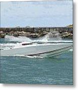Race Boat Metal Print