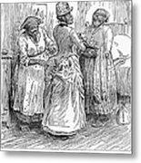 Racial Caricature, 1886 Metal Print