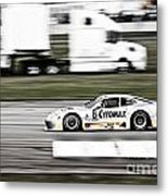Racing By Metal Print by Darcy Michaelchuk