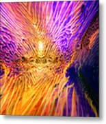 Radiant Flow Metal Print