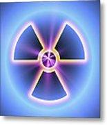 Radiation Warning Sign Metal Print