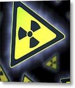 Radiation Warning Signs, Artwork Metal Print