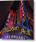 Radio City Music Hall Metal Print by Benjamin Matthijs