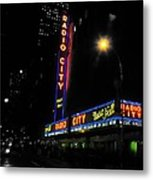 Radio City Music Hall - Greeting Card Metal Print
