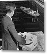 Radio-controlled Model Tug, 1955 Metal Print
