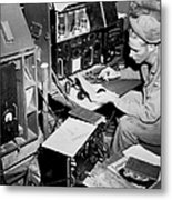 Radio Operator Operates His Scr-188 Metal Print by Stocktrek Images