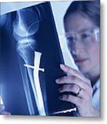 Radiologist Metal Print by Tek Image