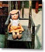 Rag Doll In Chair Metal Print