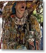 Rag Lady Begging Metal Print