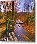 Raging River Near Preston Metal Print