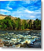 Raging River Metal Print by Robert Bales