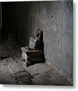 Raided Buddha At Angkor Wat Metal Print