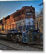 Rail America's 3869 Metal Print