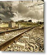 Rail Contrasts Metal Print