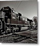 Rail Crossing Metal Print