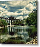 Rail Swing Bridge Metal Print