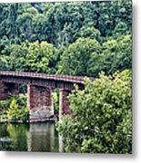 Railroad Bridge At East Falls Philadelphia Metal Print