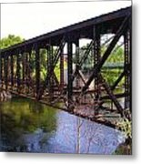 Railroad Bridge Metal Print