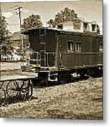 Railroad Car And Wagon Metal Print