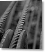 Railroad Crane Cables Metal Print