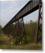 Railroad High Bridge 3 Metal Print