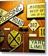 Railroad Talk Metal Print