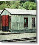 Railroad Woodshed 2 Metal Print