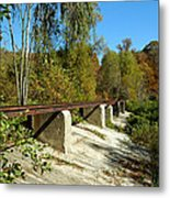 Rails To The Past Metal Print