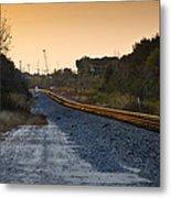 Railway Into Town Metal Print