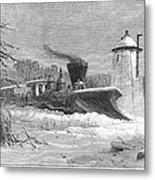 Railway Snow Plough, 1862 Metal Print