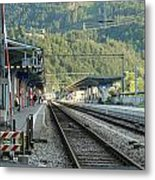 Railway Station West Interlaken Switzerland Metal Print