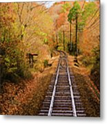 Railway Track Metal Print by (c) Eunkyung Katrien Park