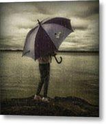 Rain Day 2 Metal Print by Heather  Rivet