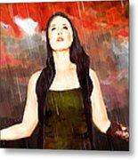 Rain Drain Metal Print