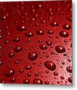 Rain Drops Bloody Red  Metal Print